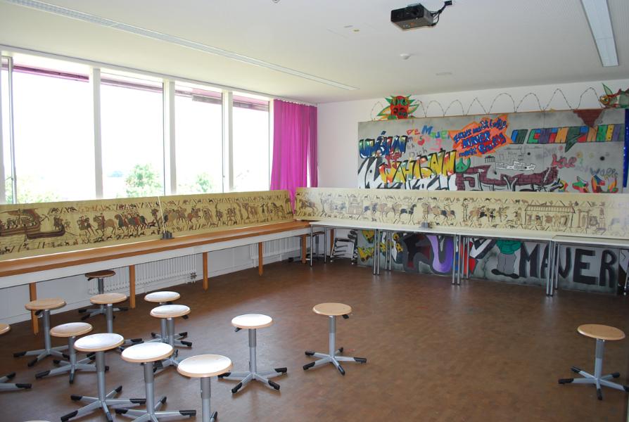 Ausstellung zum Teppich von Bayeux  ImmaMackRealschule
